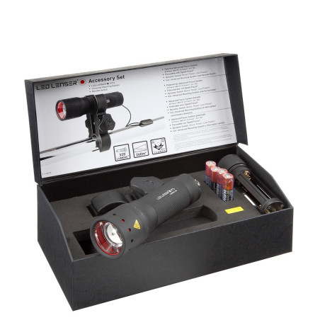 LINTERNA LED LENSER P7 KIT CAZA