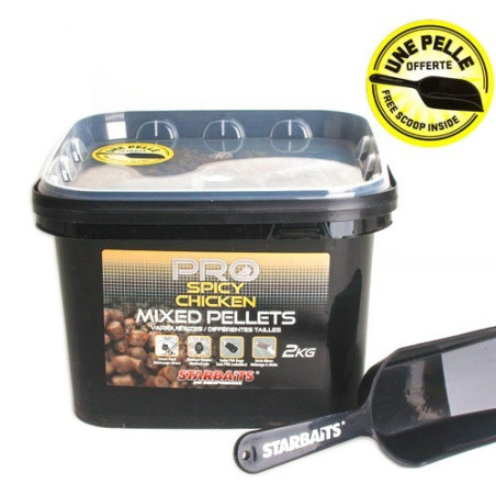 PELLETS STARBAITS MIXED PROBIOTIC SPICY CHICKEN 2KG